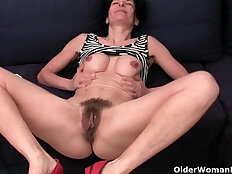 Older women soaking their cotton panties with creamy pussy juice