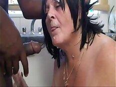 Slutty grandma from black hard cock